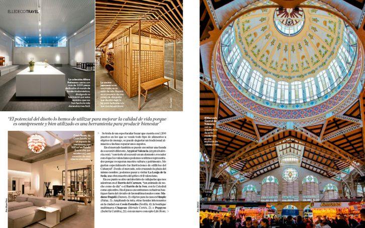 Marisa Gallén cuenta con Cosín estudio para su ruta design en elle Decor Travel.